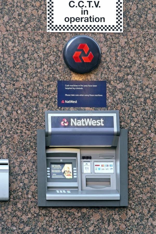 NatWest bank machine stock photo