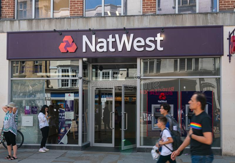 NatWest bank Oxford royalty free stock photo