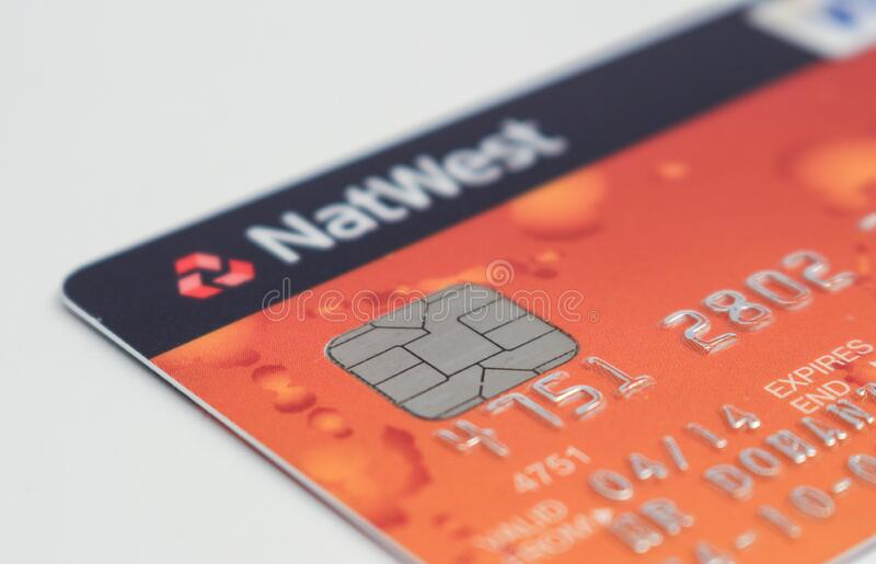 NatWest credit card stock image