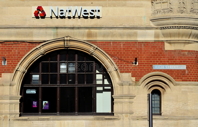 NatWest High Street royalty free stock image