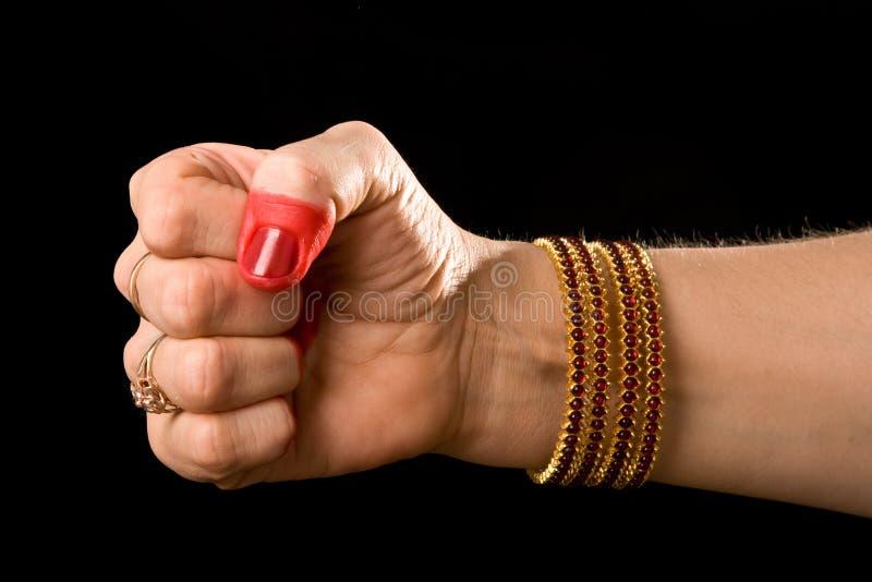 natyam för mushti för bharatadanshasta indisk royaltyfria foton