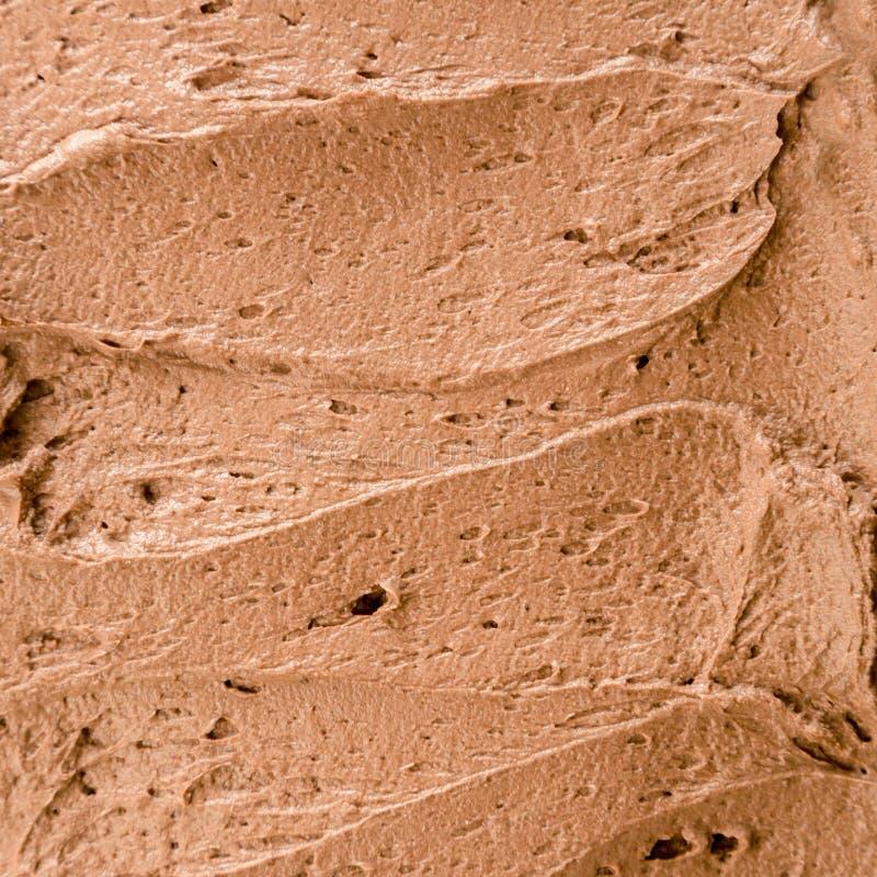 Natychmiastowa czekoladowa lody tekstura zdjęcia stock
