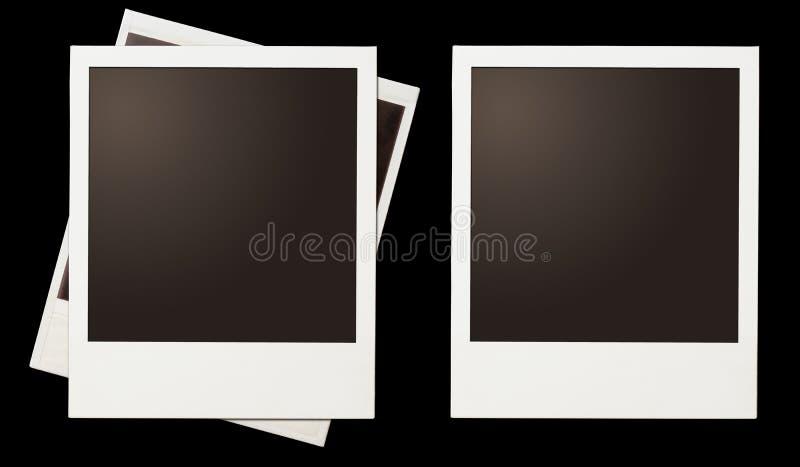 Natychmiastowy fotografia polaroid obramia set odizolowywającego na czerni ilustracja wektor