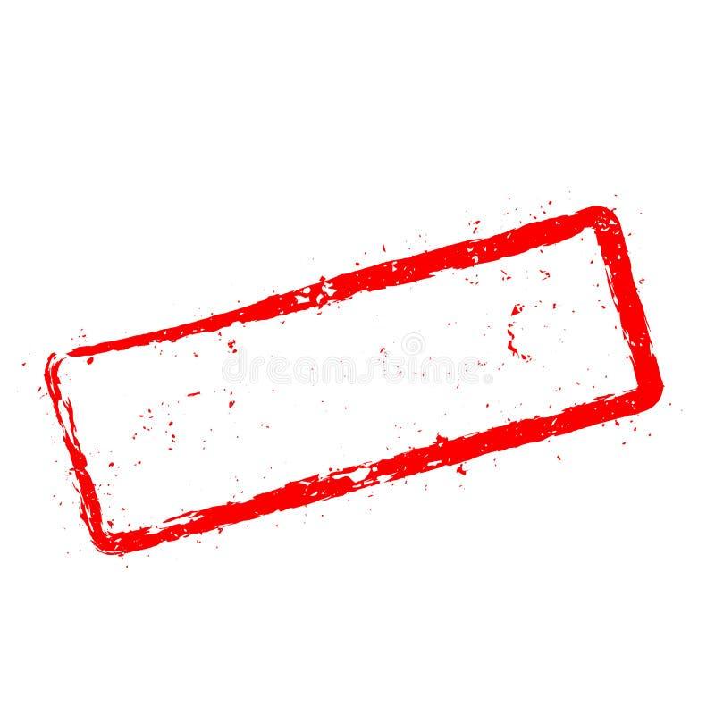 Natychmiastowych nagród czerwona pieczątka odizolowywająca na bielu ilustracja wektor