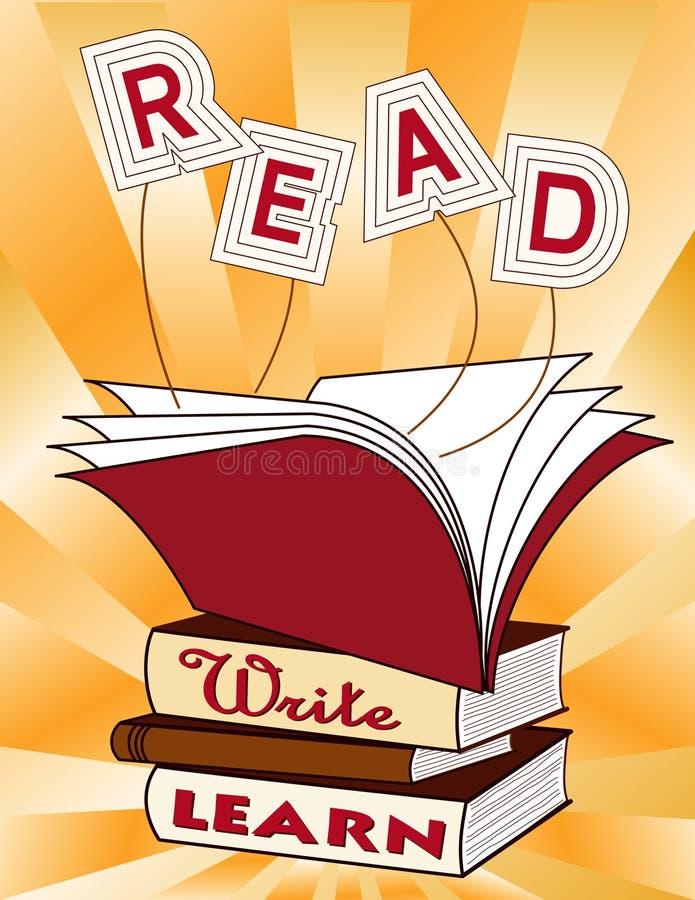 naucz się czytać pisze. ilustracji