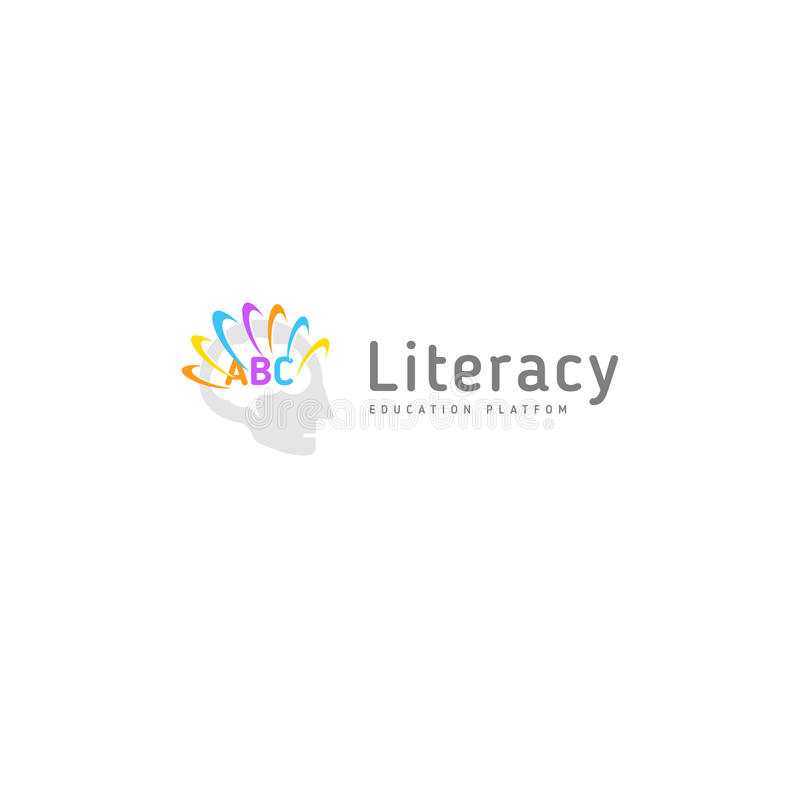 Nauczań dzieci piśmienność Rozwój mowa i mózg Dziecka ` s edukaci i rozwoju centrum, wektor royalty ilustracja