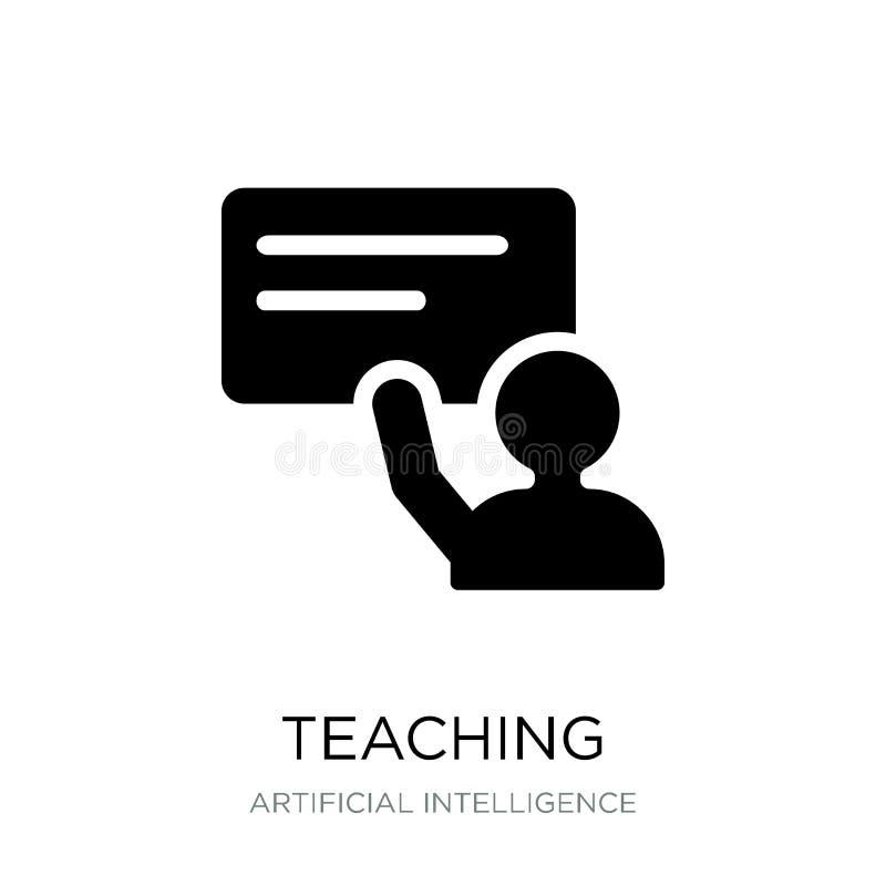 nauczanie ikona w modnym projekta stylu nauczanie ikona odizolowywająca na białym tle nauczanie wektorowej ikony prosty i nowożyt ilustracji