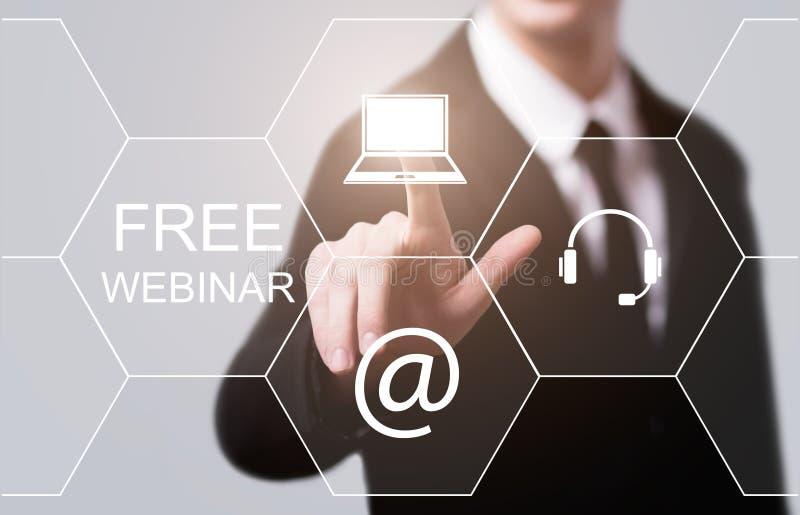 Nauczanie online edukaci Internetowej technologii Webinar kursów Online pojęcie obraz royalty free