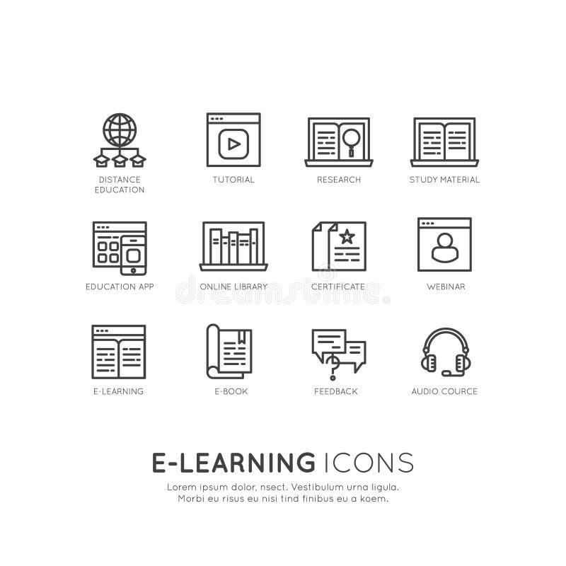 Nauczanie online usługa, online edukacja ilustracja wektor