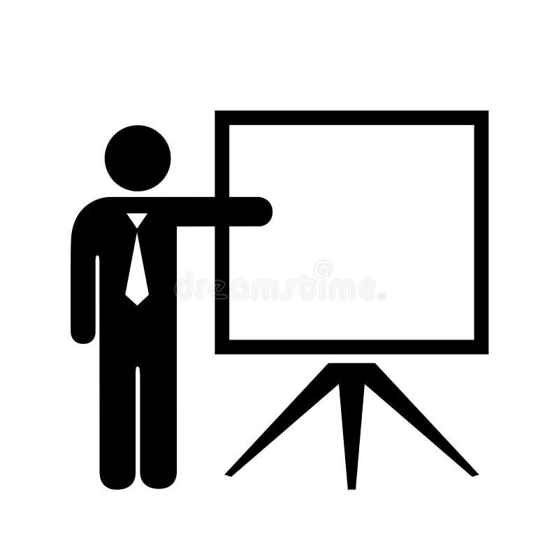 Nauczyciel i pusty ekran ilustracji