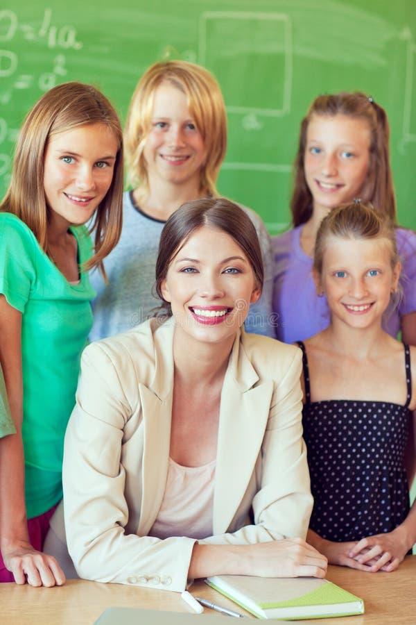 Nauczyciel i ucznie fotografia royalty free