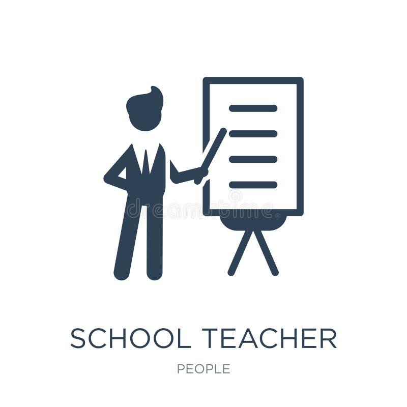 nauczyciel ikona w modnym projekta stylu nauczyciel ikona odizolowywająca na białym tle nauczyciel wektorowa ikona prosta ilustracja wektor