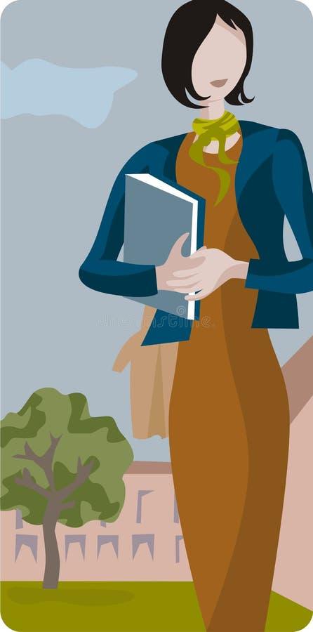 nauczyciel serii ilustracyjny royalty ilustracja