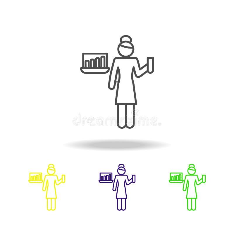 nauczyciel stubarwne ikony Edukacja symbolu znaka piktogram może używać dla sieci, logo, mobilny app, UI, UX ilustracji