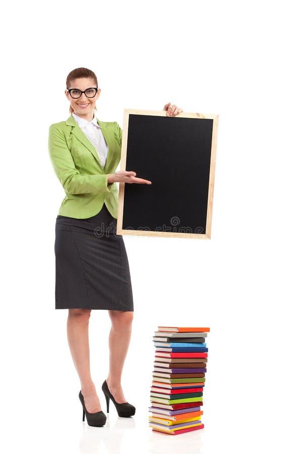 Nauczyciel z blackboard. obraz stock