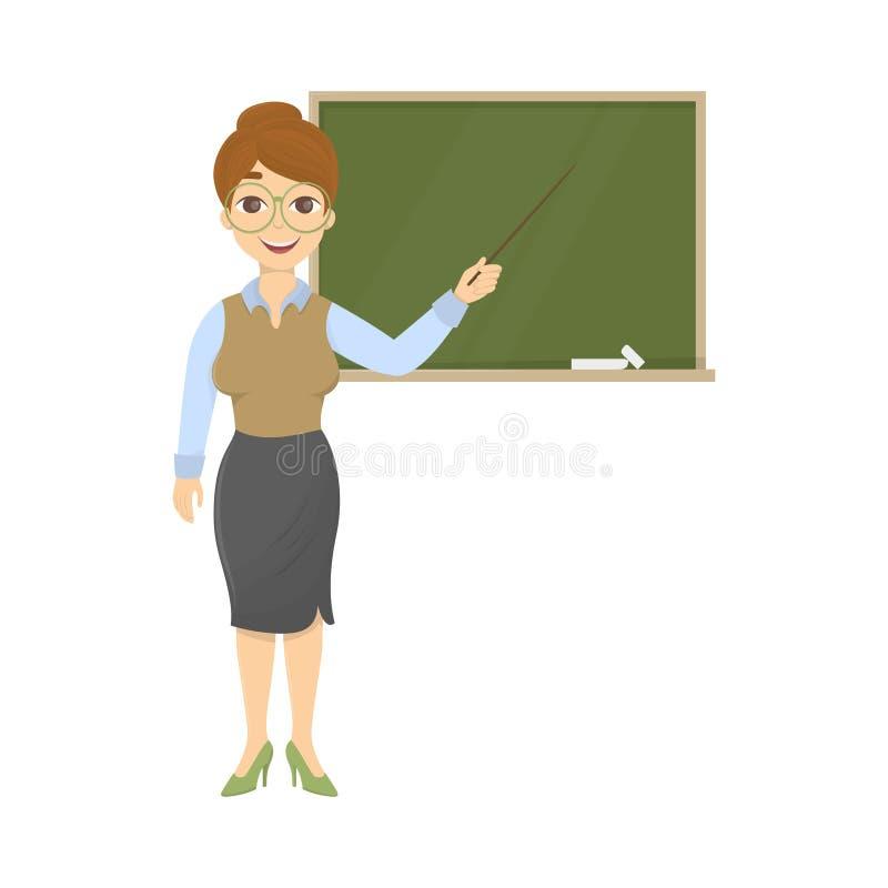Nauczyciel z chalkboard royalty ilustracja