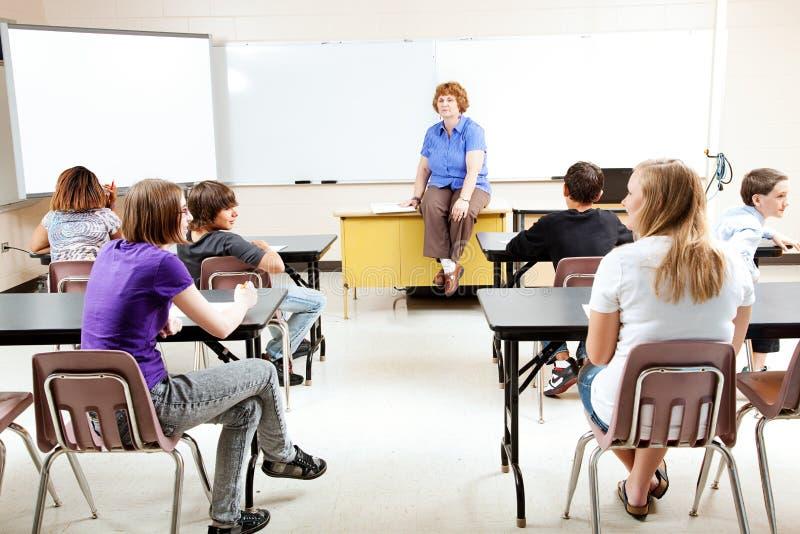 Nauczyciel Z klasą zdjęcie stock
