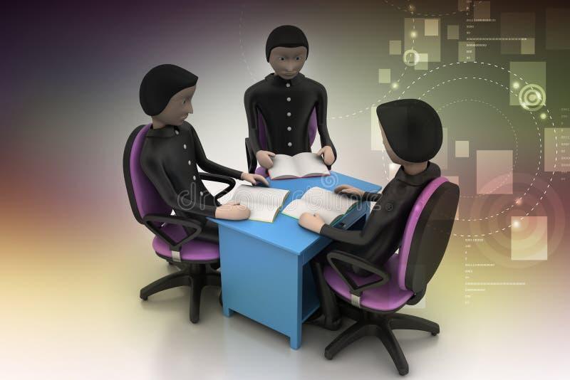 Nauczyciela i uczni dyskusja ilustracji