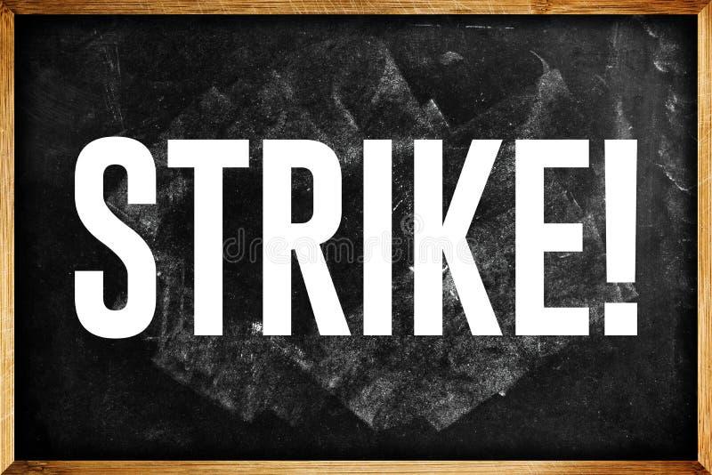 Nauczyciele na strajku zdjęcia royalty free