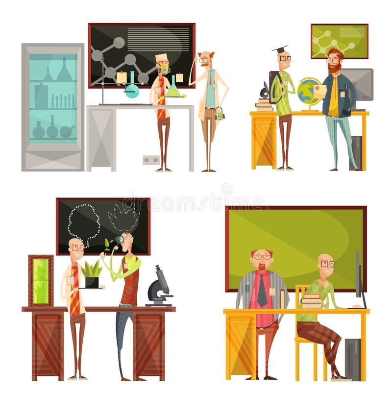 Nauczycieli Retro składy ilustracji