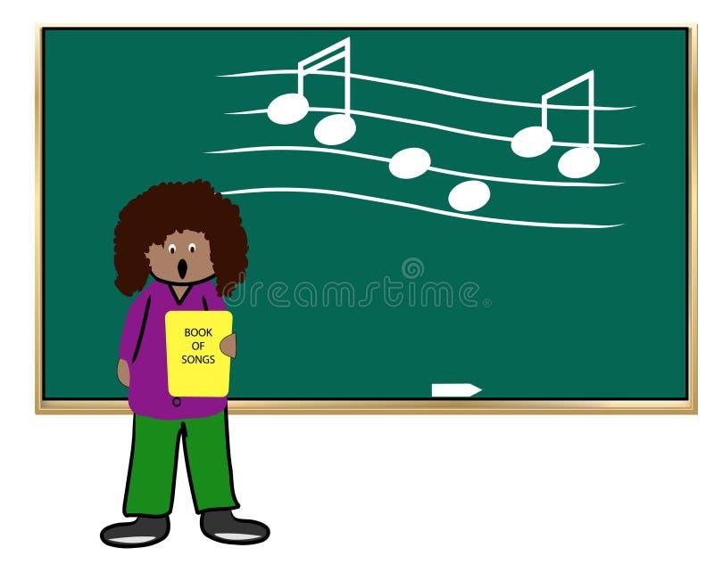 nauczycielka muzyki royalty ilustracja