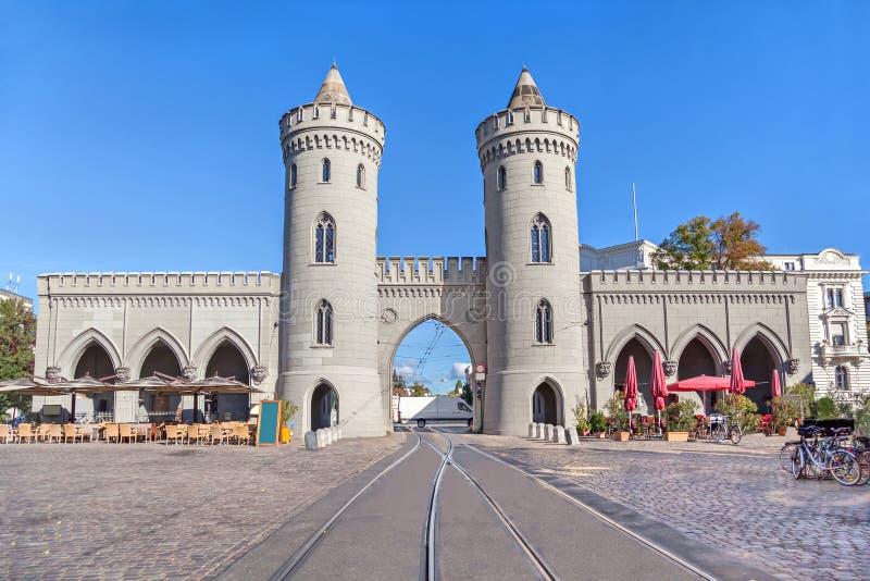 Nauener Tor - historisk stadsport i Potsdam royaltyfri fotografi