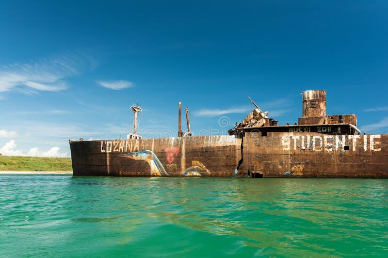 Naufrágio de Evangelia perto da praia do Mar Negro imagem de stock royalty free