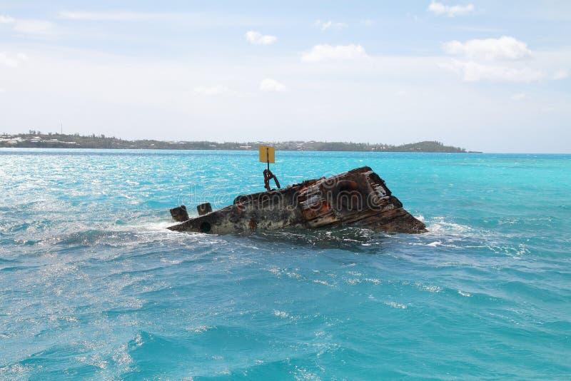 Naufrágio em Bermuda fotos de stock royalty free