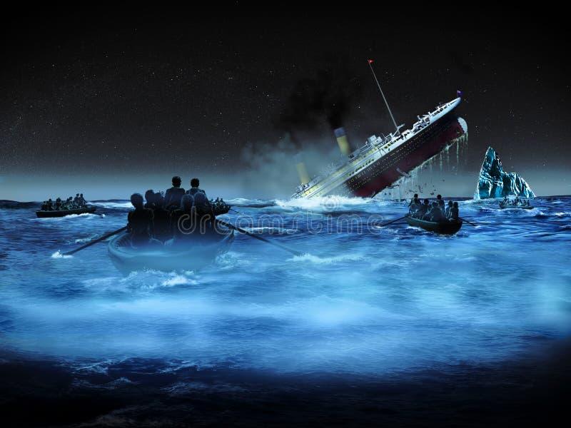 Naufragé titanique illustration de vecteur