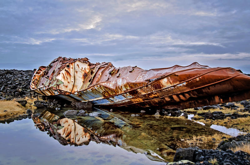 Naufrage de l'Islande photo libre de droits