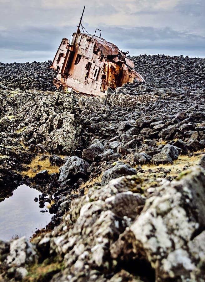 Naufrage de l'Islande photographie stock