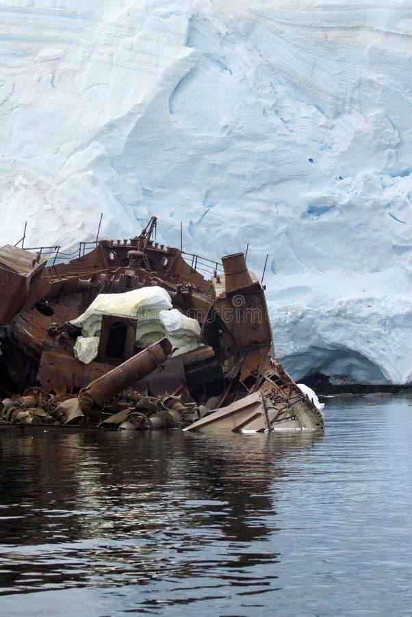 Naufrage en Antarctique photo stock