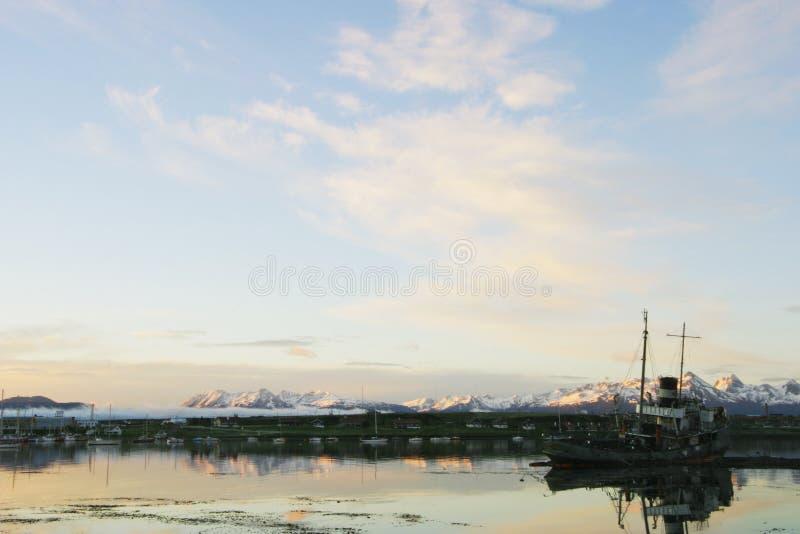 Naufraghi nel porto di Ushuaia, Tierra Del Fuego fotografie stock