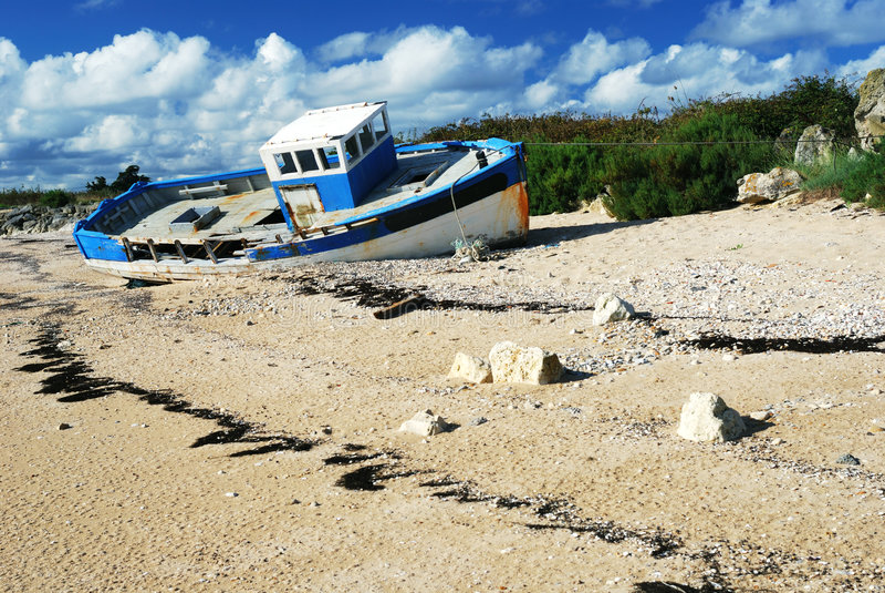 Naufragio #2 della barca fotografie stock libere da diritti