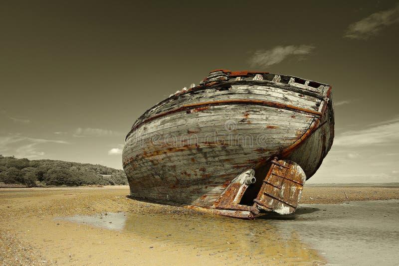 Naufragio de la bahía de Dullas foto de archivo