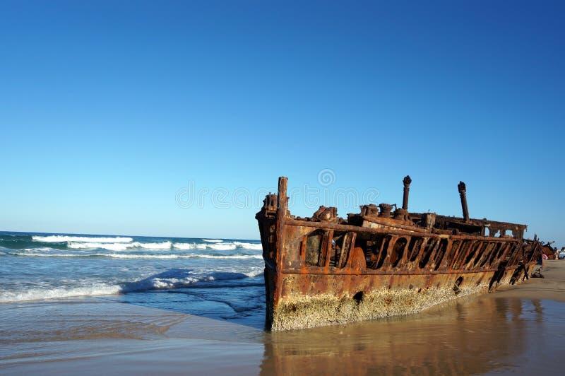 Naufragio de Maheno en Fraser Island foto de archivo libre de regalías