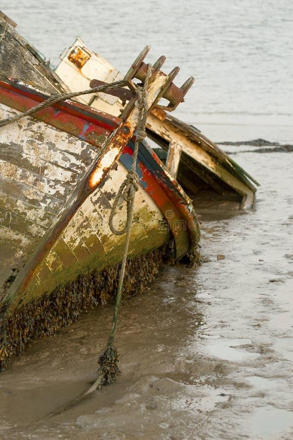 Naufragio della barca fotografia stock libera da diritti