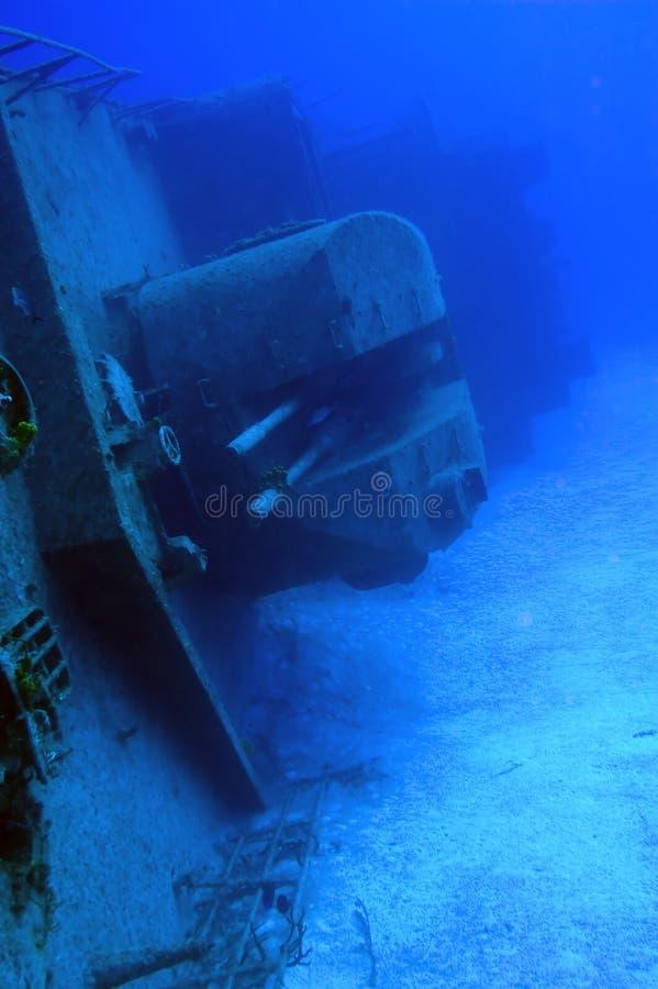 Naufragio russo della nave da guerra fotografia stock
