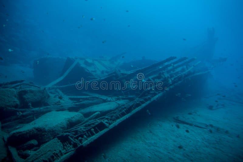 Naufragio subacqueo immagine stock