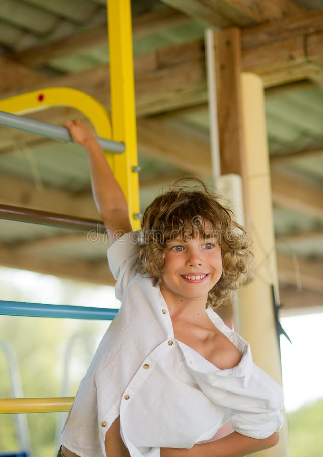 Free Naughty Boy 10-11 Years Old On The Playground. Royalty Free Stock Images - 100632849