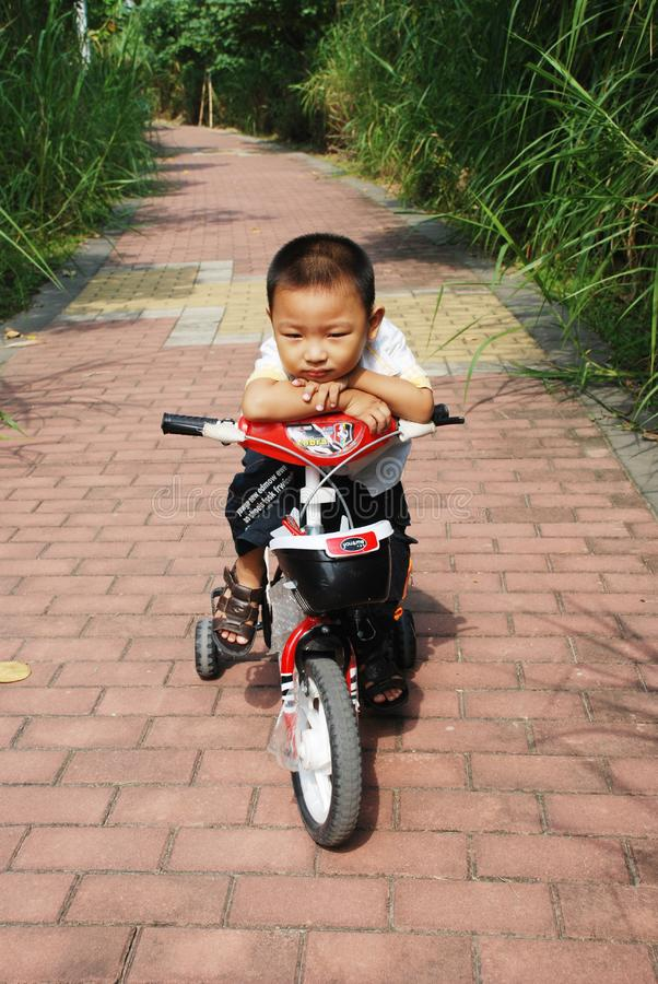 Download The Naughty Boy On A Bicycle Stock Image - Image: 6715115