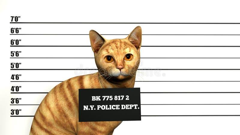 Naughty, Mean Bad Cat Illustration vector illustration