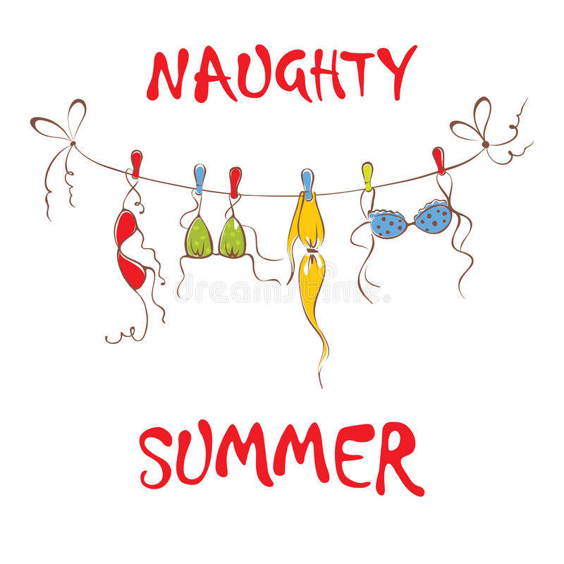 Naughty summer royalty free illustration