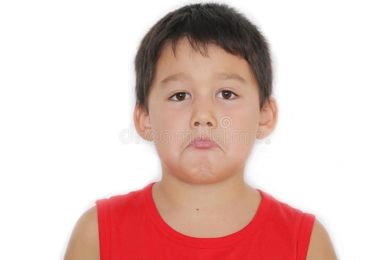 Download Naughty unhappy boy stock image. Image of handsome, life - 33061793