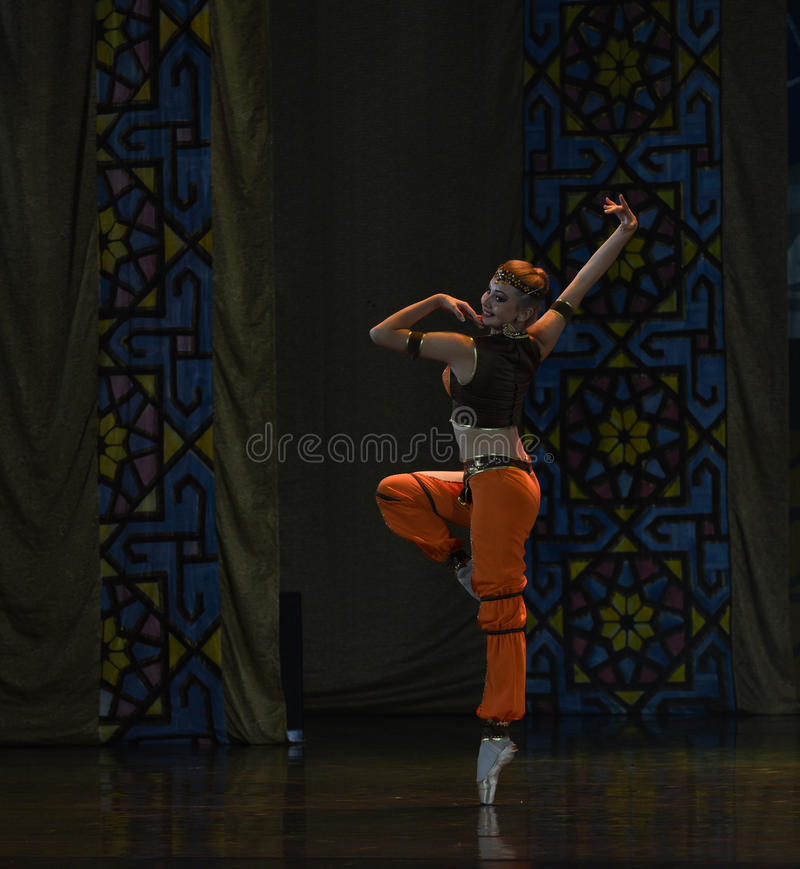 """Naughty waiter- ballet """"One Thousand and One Nights"""" royalty free stock photos"""