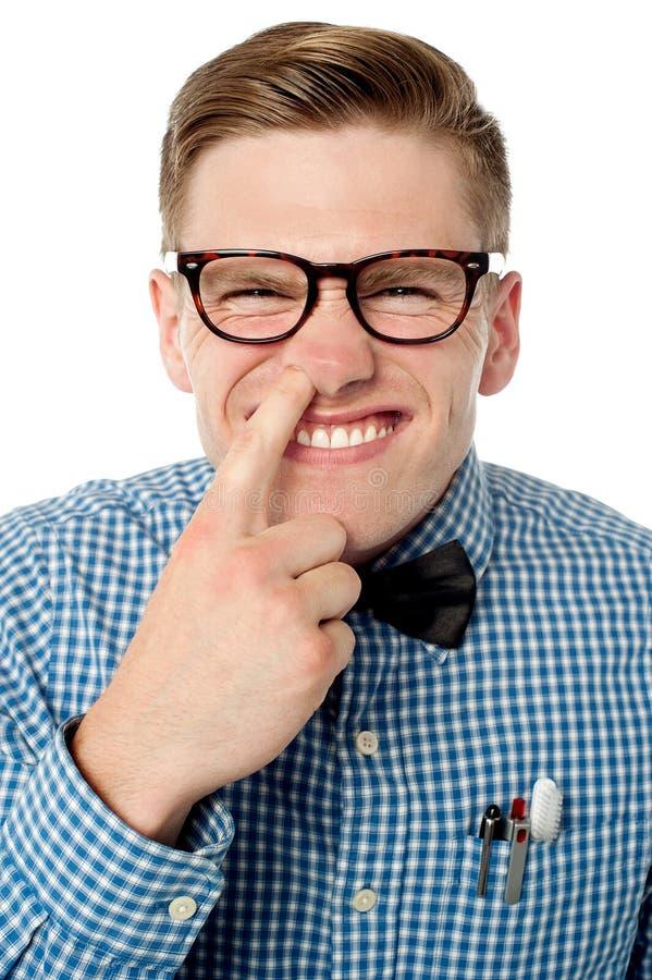 Download Naughty Young Mischievous Guy Stock Image - Image of finger, genius: 33859853