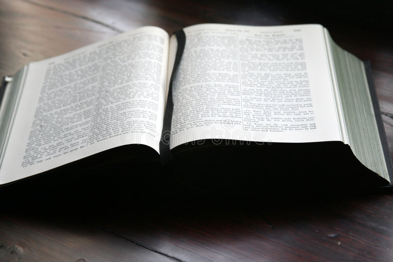 nauka biblii obraz stock