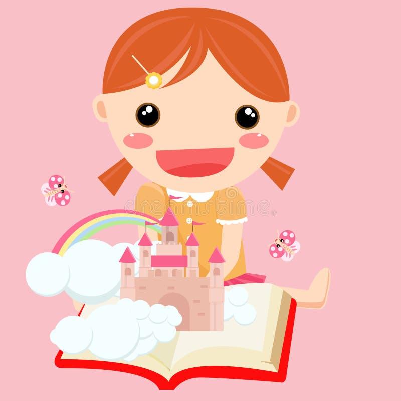 nauka dziewczyny ilustracji