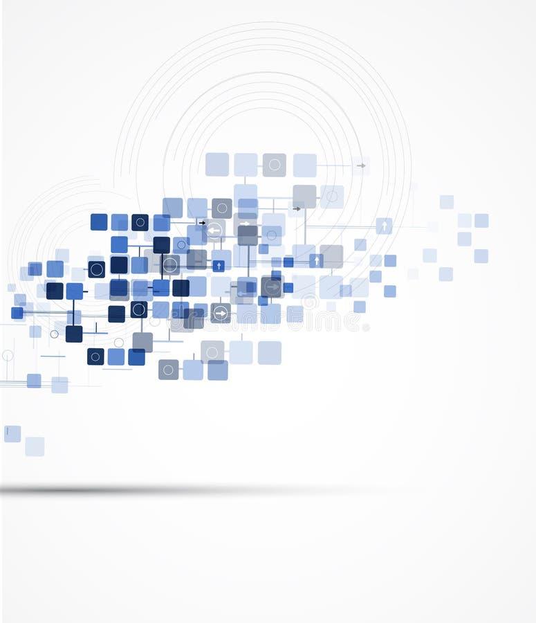 Nauka futurystycznego interneta informatyki wysoki biznes ilustracja wektor
