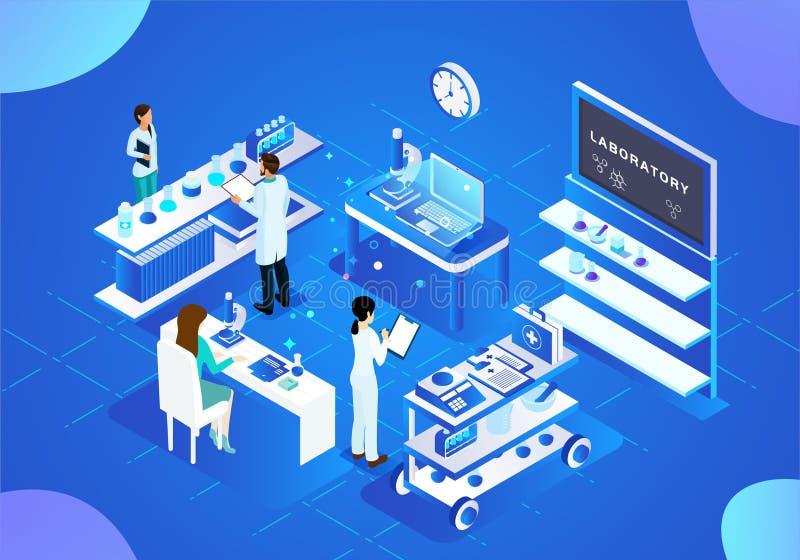 Nauka i technika medyczna wektorowa ilustracja ilustracja wektor